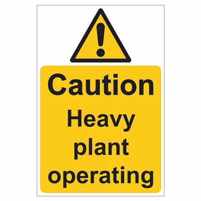Heavy Plant Site Safety Sign