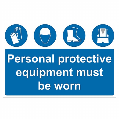 PPE Site Safety Sign