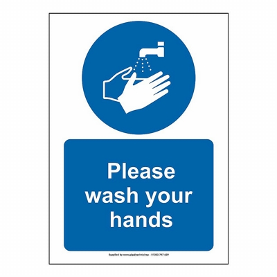 Please Wash Your Hands Health And Safety Sign